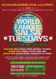 Salsa Tuesdays at Alhambra Palace