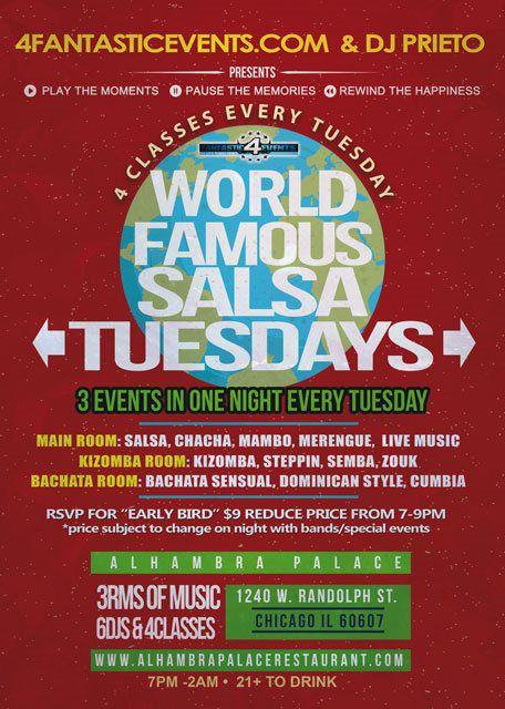 Salsa Tuesdays at Alhambra Palace