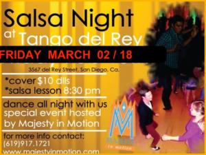 Salsa Fridays at Tango del Rey