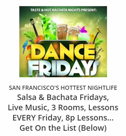 Salsa Fridays at Dance Fridays