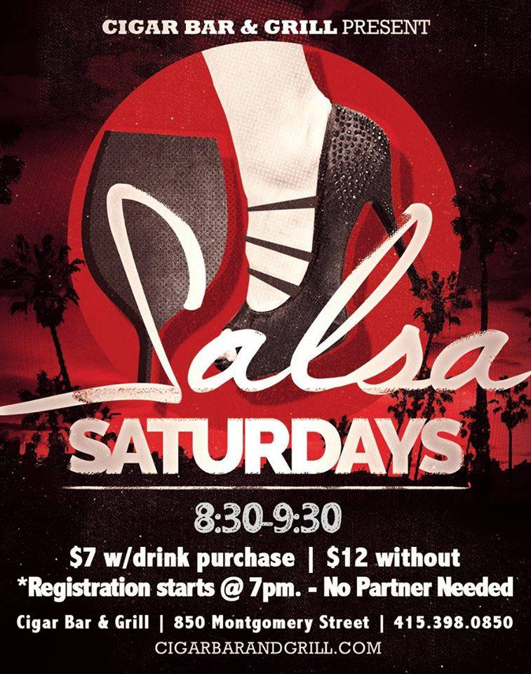 Salsa Saturdays at Cigar Bar and Grill