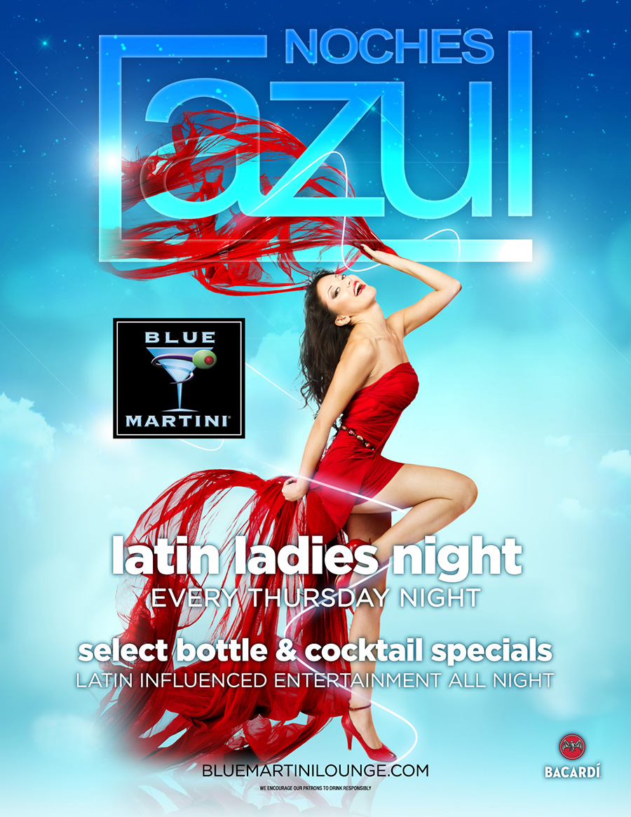 Latin Dancing at Blue Martini Kendall