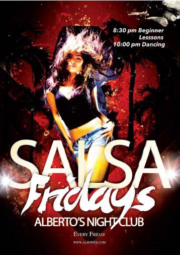 Salsa Fridays at Albertos Night club