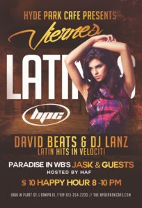 Latin Fridays at Hyde Park Cafe
