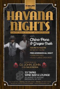 Latin Wednesdays at 33 Tapas Wine & Bar Lounge