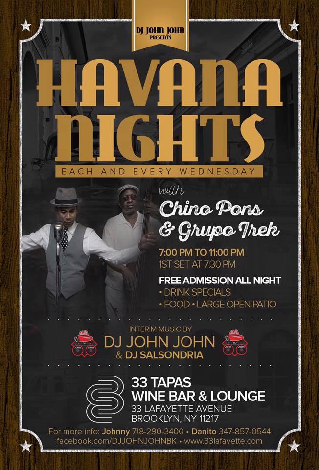 Latin Wednesdays at 33 Tapas Wine & Bar Lounge
