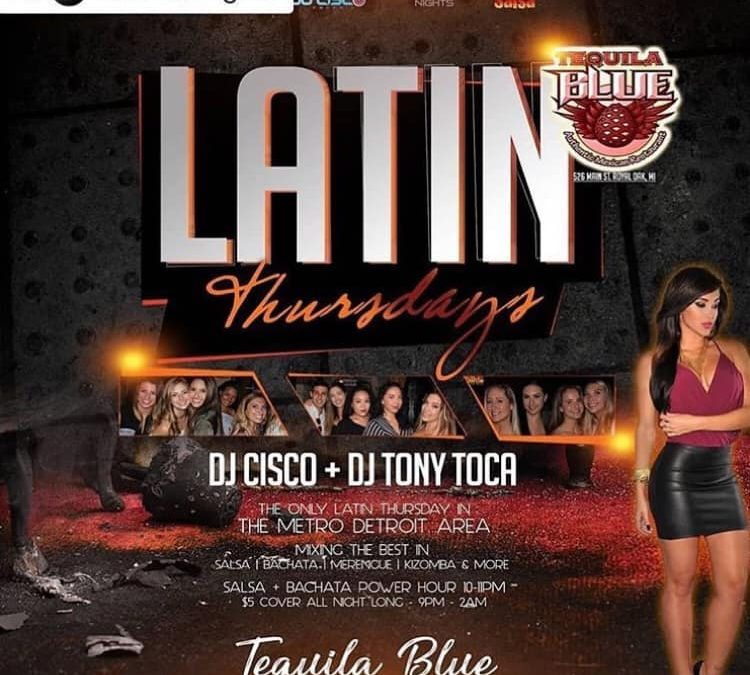 Latin Thursdays at Tequila Blue