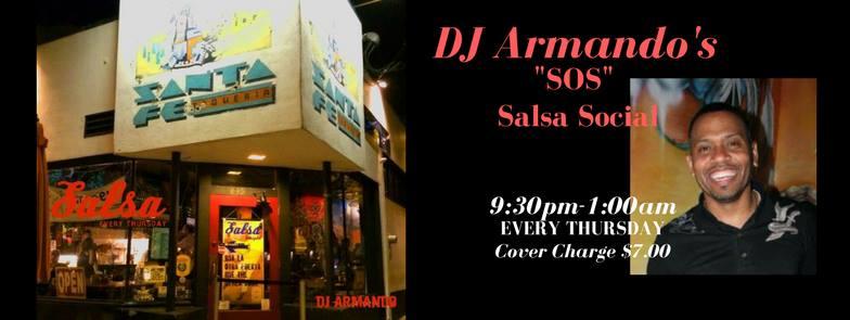 """Salsa Dancing Santa Fe – DJ Armando's """"SOS"""" Salsa Social"""