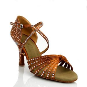 tan salsa dance shoes